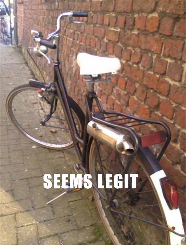 seems legit, bike