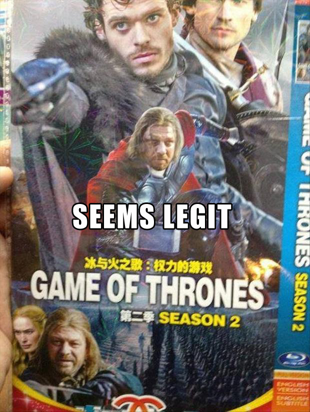 seems legit, game of thrones