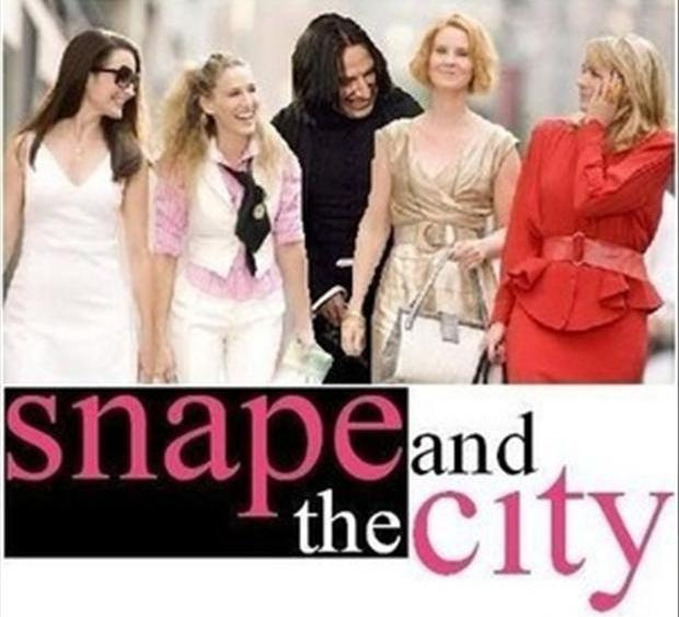 sexy and the city, snape and the city, funny pictures