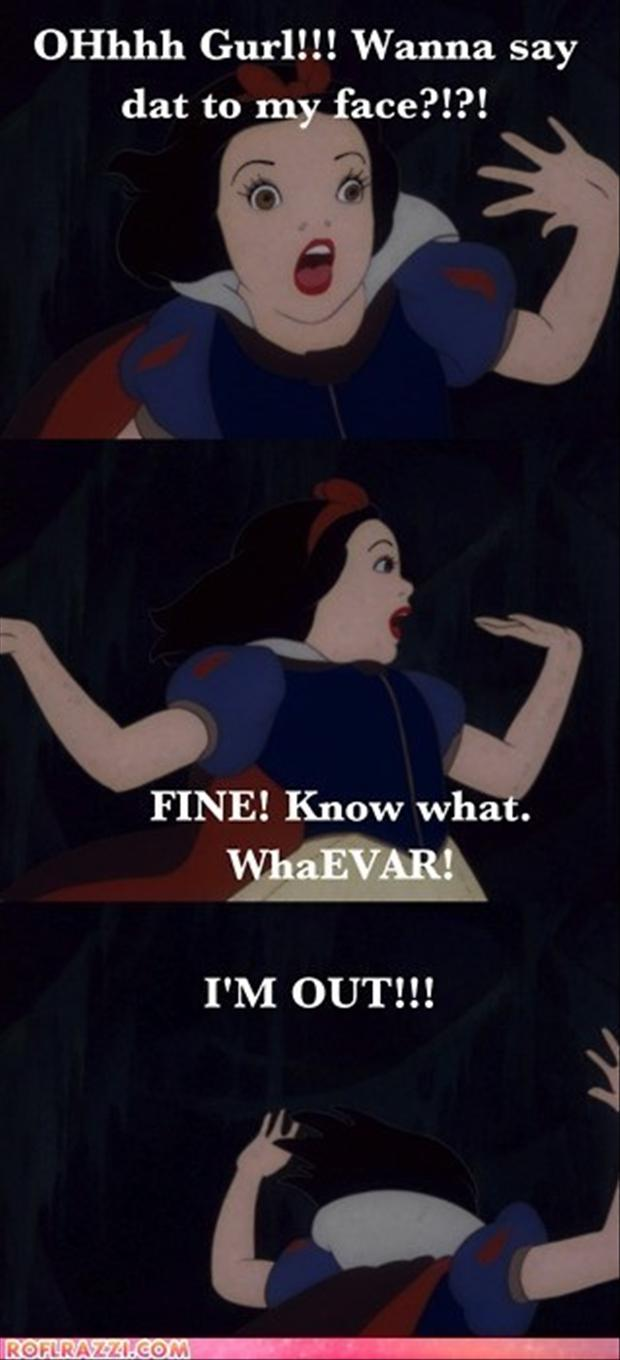 snow white, drama queen