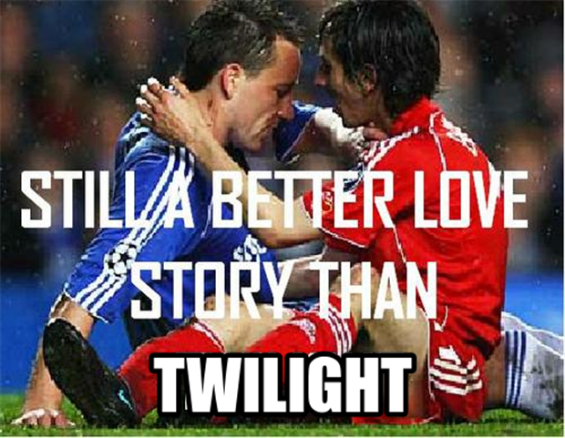 socceer players, still a better love story than twilight