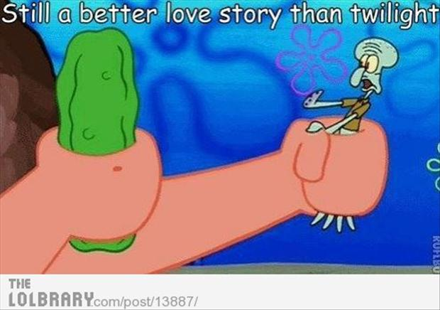 spongebob, still a better love story than twilight
