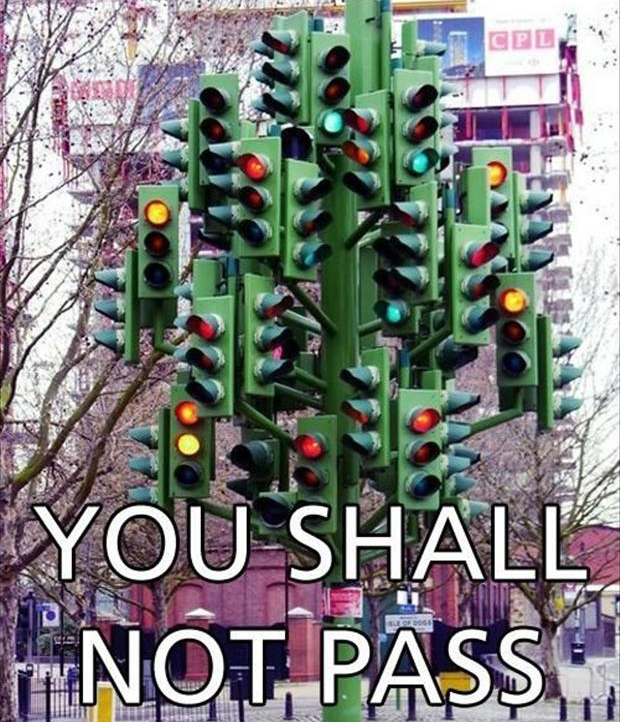 stop light, you shall not pass