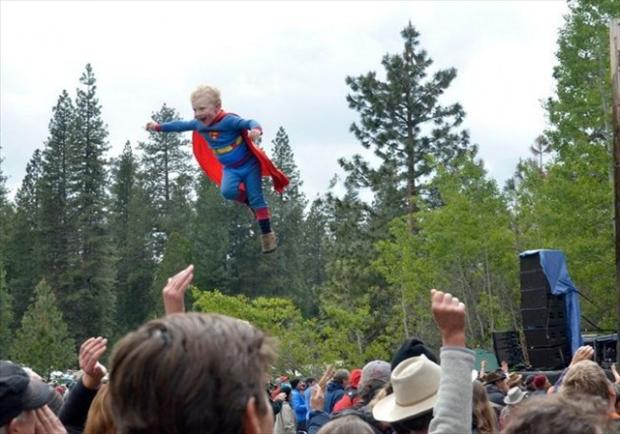 superman, perfectly timed photos