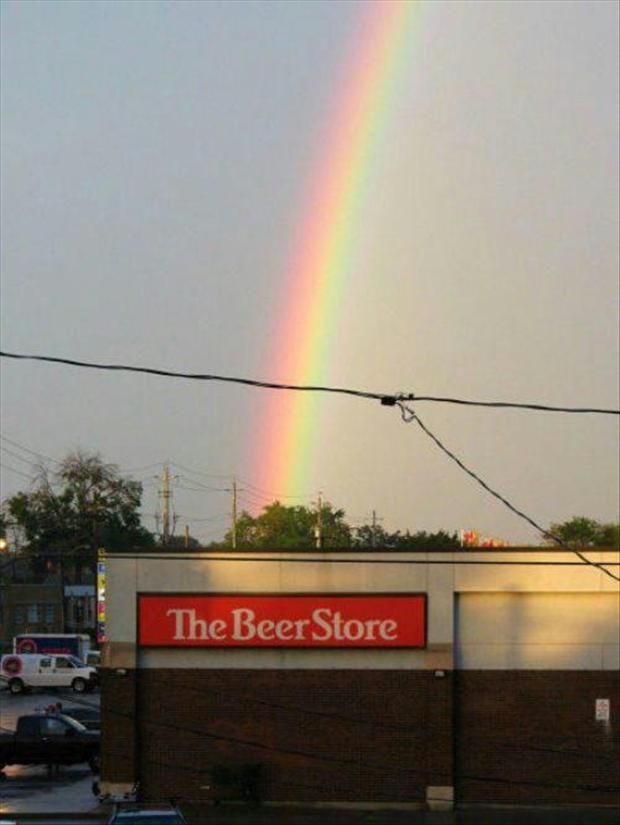 the beer store at the end of a rainbow