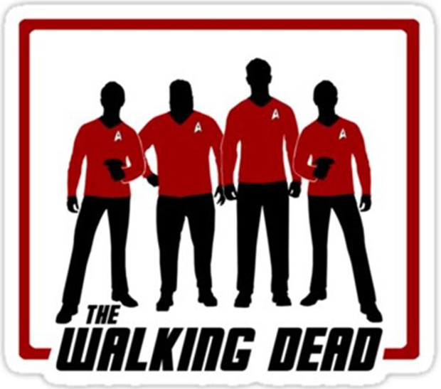 the walking dead, funny star trek