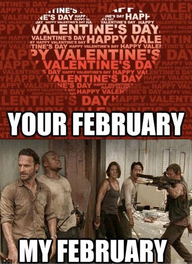 the walking dead, funny valentines day pictures