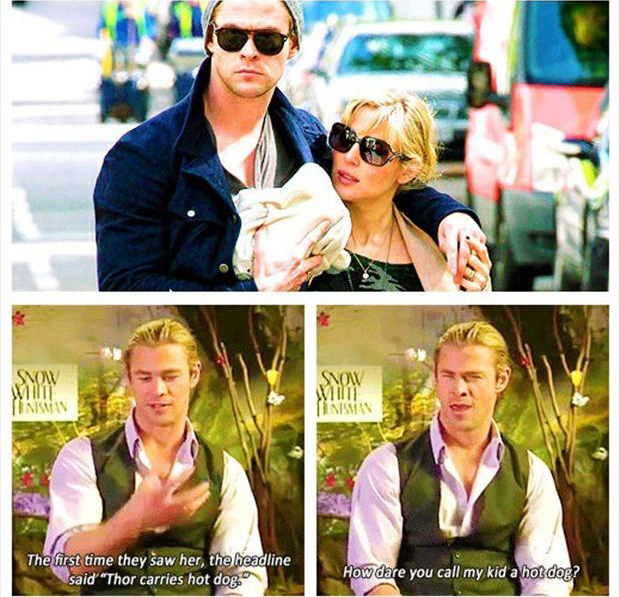 thor carries a hot dog, funny thor quotes