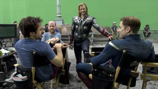 thor, iron man, captain america, behind the scenes of avengers movie