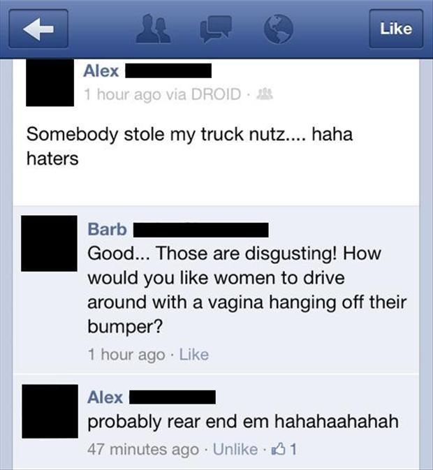 truck nuts, funny pictures