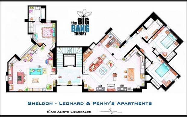 tv show floor plans, thumbnail