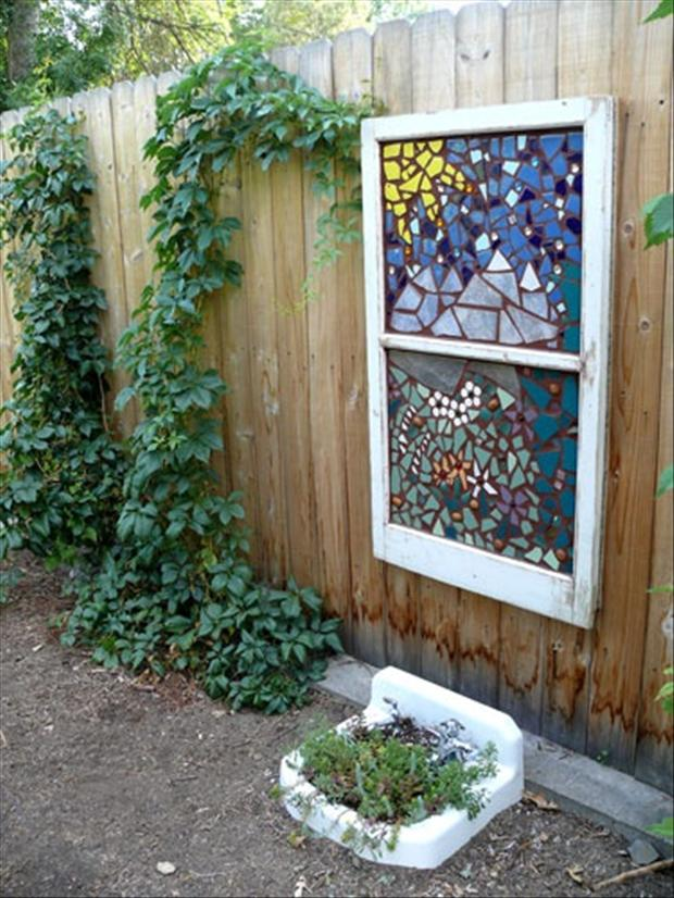 Use An Old Sink And Window In Your Garden Dump A Day
