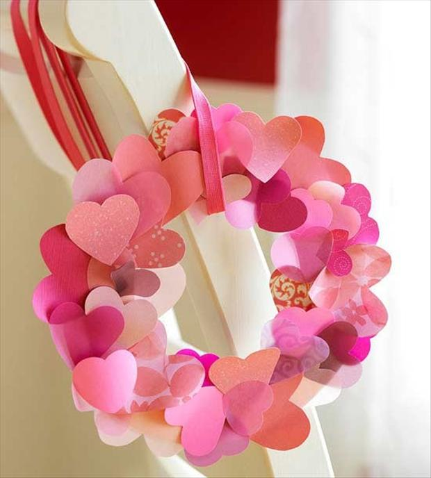 valentines day crafts, wreath