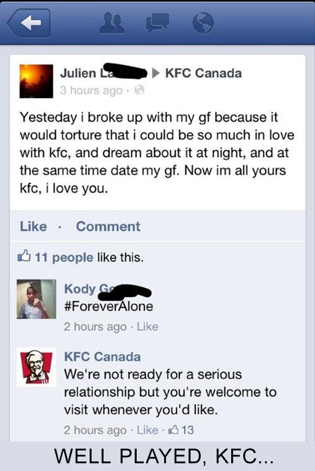 well played kfc