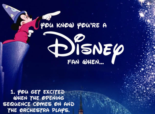 you know you are a disney fan when, infographic thumb