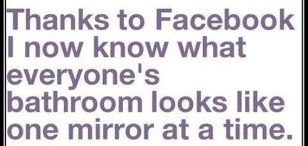 Funny Bathroom Mirror Profile Pictures