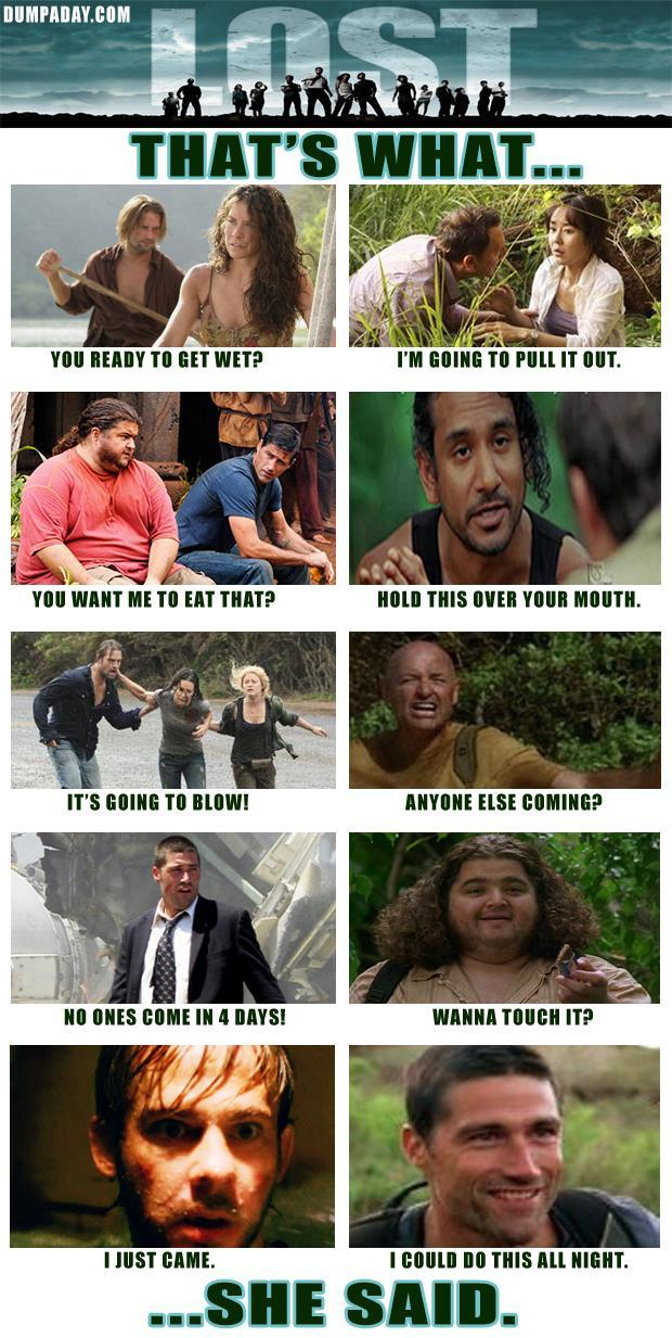 4 thats what she said, lost tv show, funny pictures