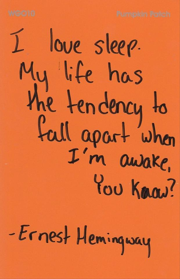 I love sleep, funny quotes