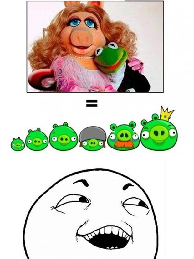 I see what you did there, angry birds