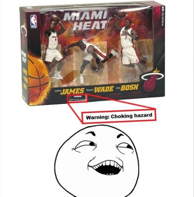 I see what you did there, choking hazard