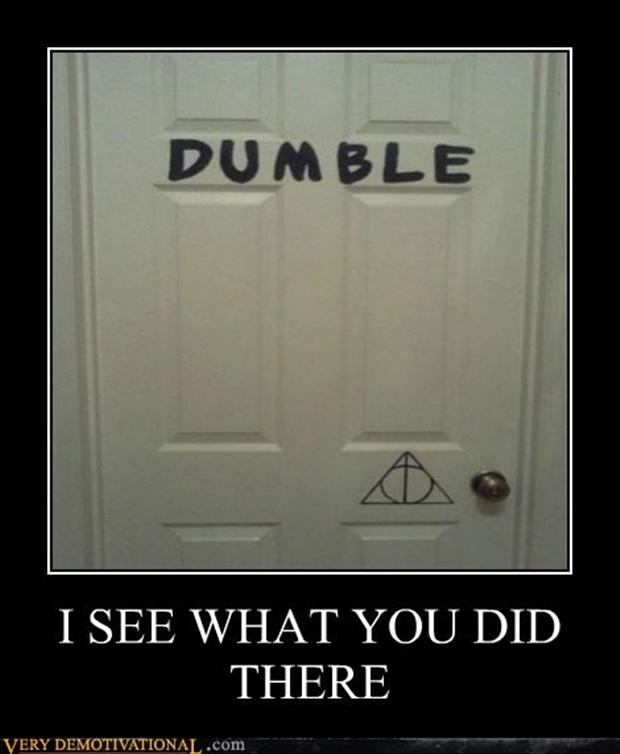 I see what you did there, dumble door