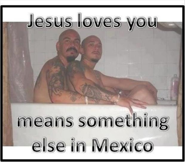 Jesus loves you, gay pictures