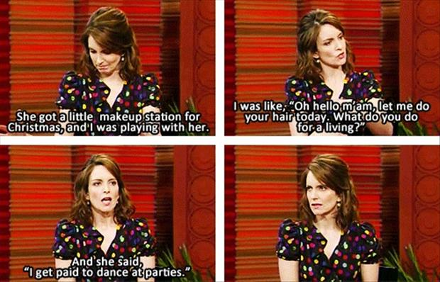 Tina Fey Talking About Her Daughter