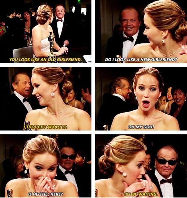 a Jenifer lawrence and jack Nicholson funny quotes
