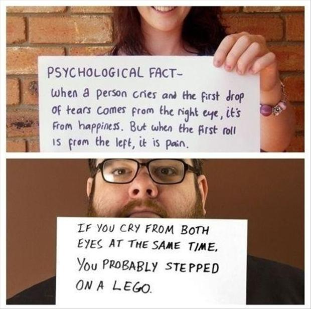 a fun facts, did you know, crying