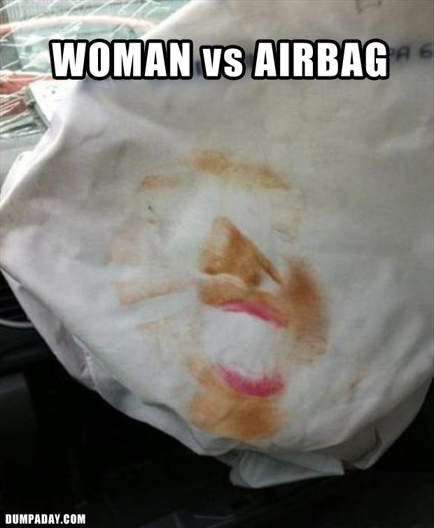 a funny airbag faces