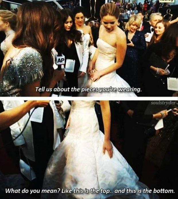 a funny jenifer lawrence quotes at the oscars