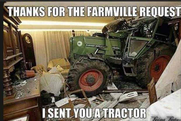 a funny pictures, farmville, tractor