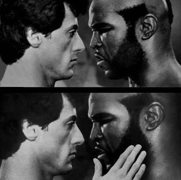 a funny pictures, rocky balboa and mr t