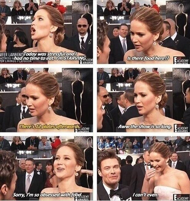 a jenifer lawrence at the oscars funny quotes