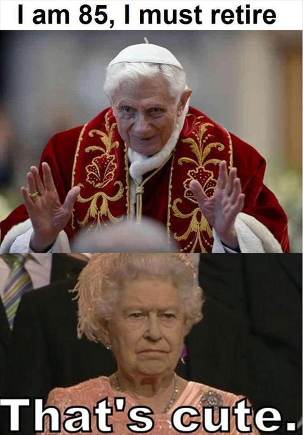a pope quits, funny pictures