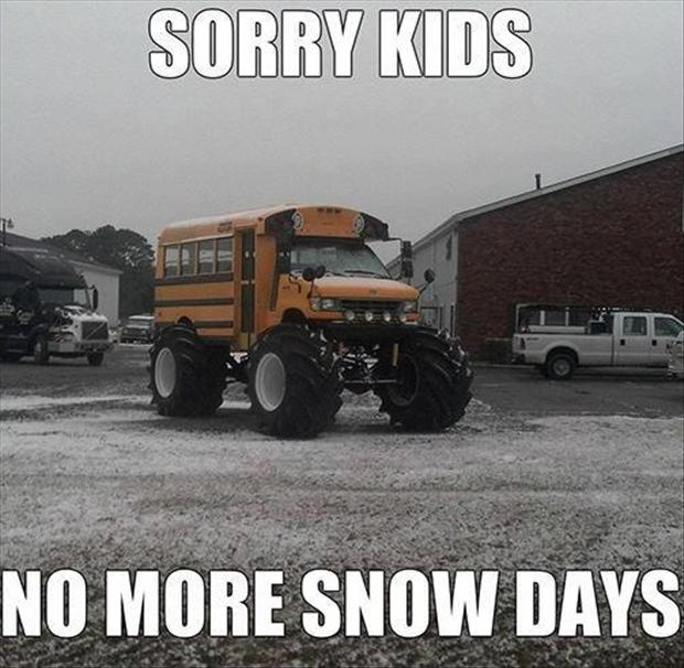 a snow days, funny school pictures