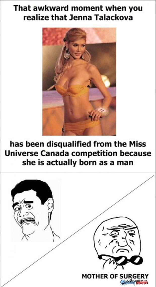 a the awkward moment when sexy woman was born a man
