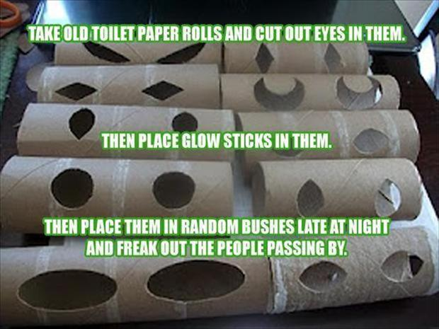 a toilet paper roll pranks