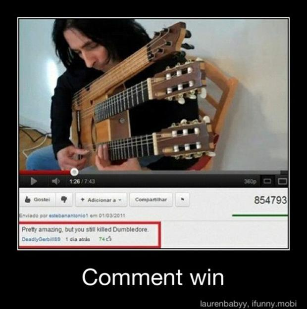 amazing guitar player, snape killed dumbledor