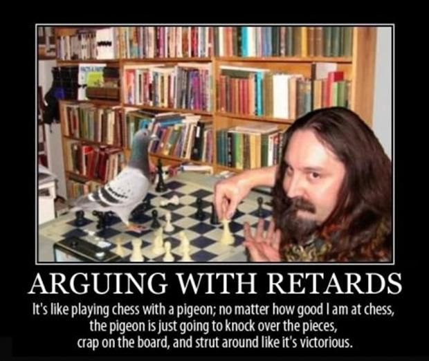 arguing with retards, funny demotivational posters