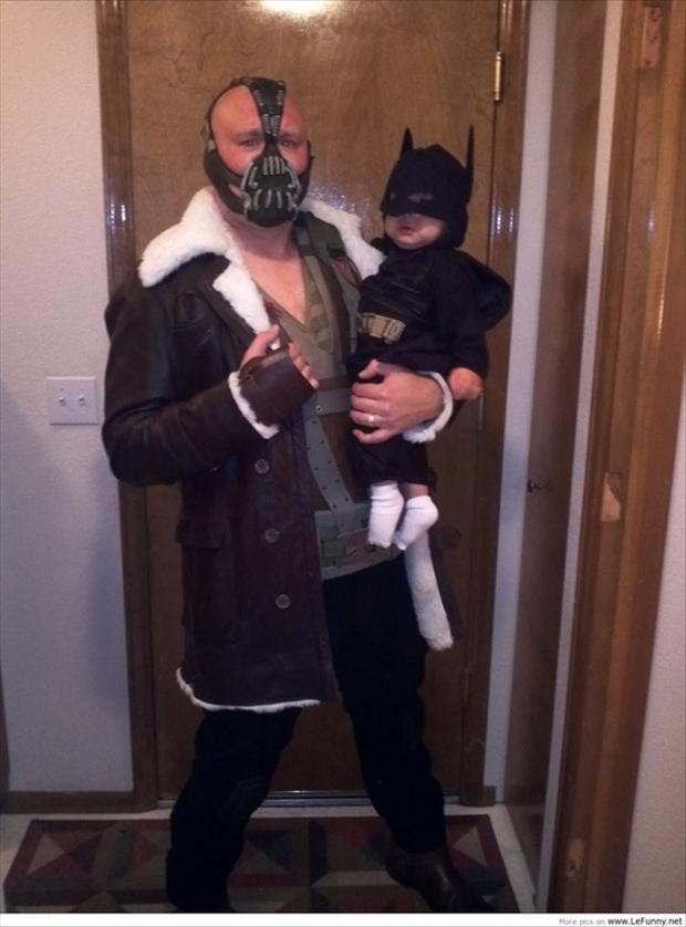 batman and bane costume, funny pictures
