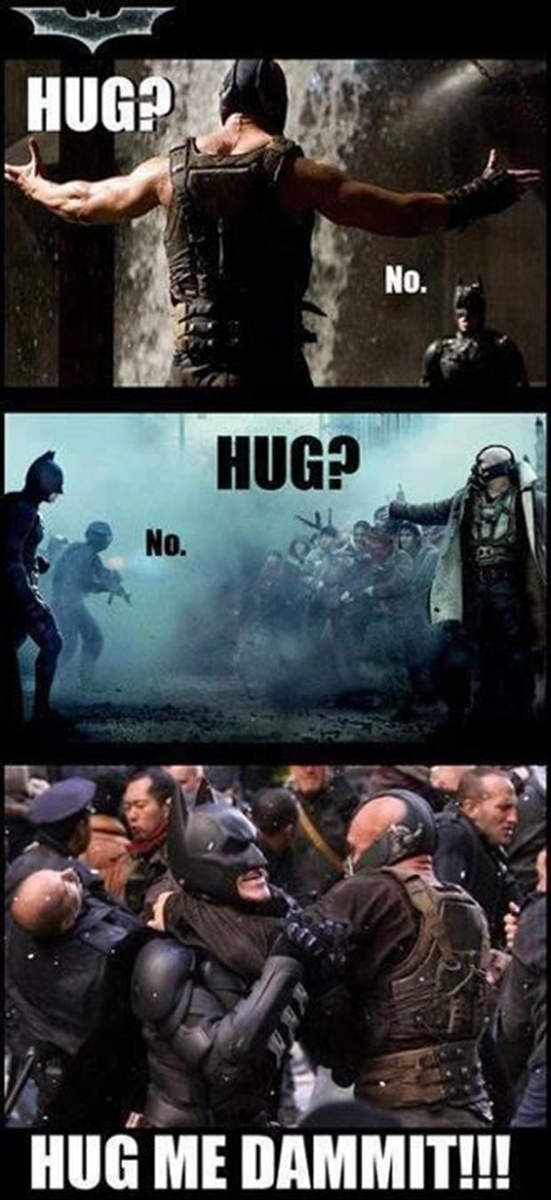 batman rises and bane funny pictures