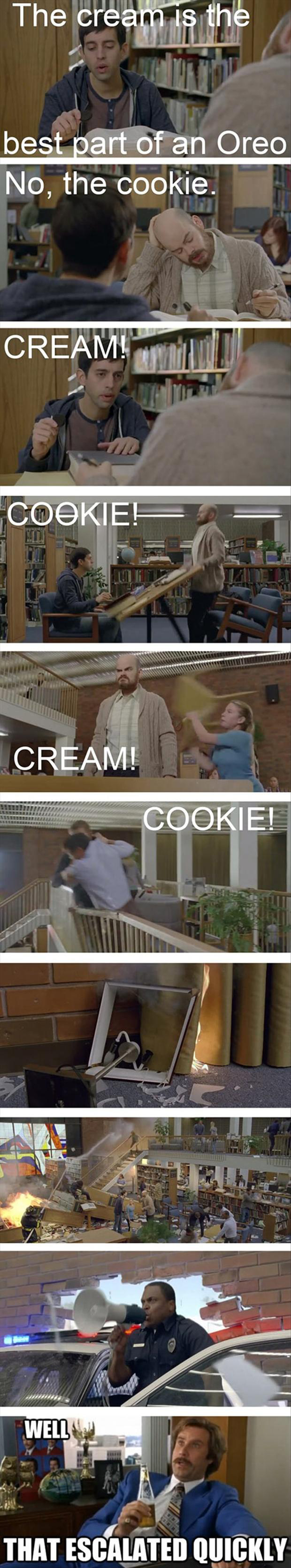 best part of an oreo commercial, funny pictures