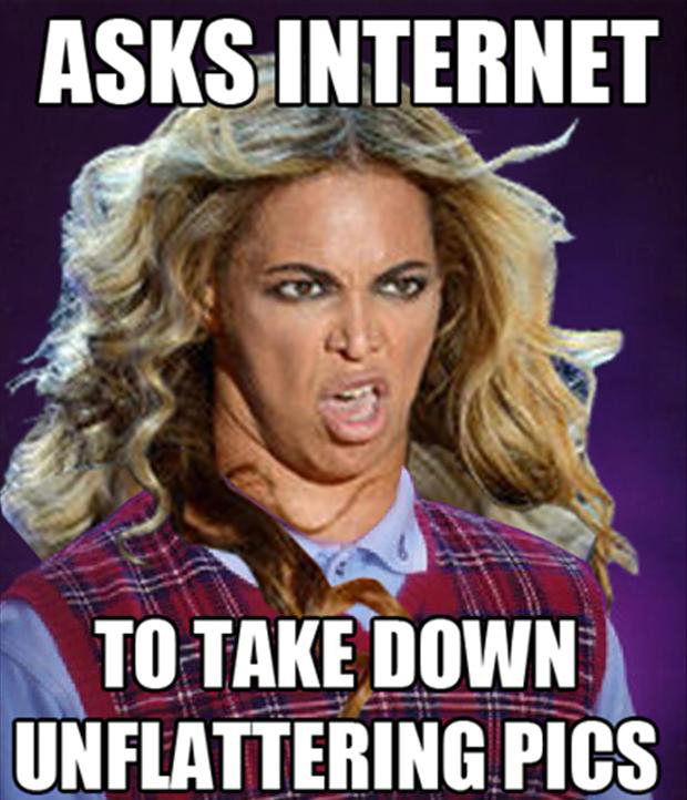 beyonce asks internet to take down unflattering pictures, memes
