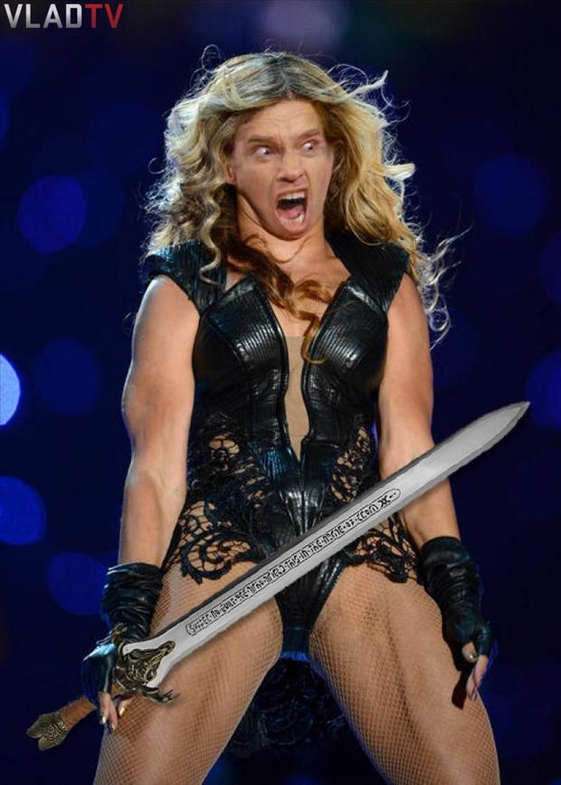 beyonce super bowl pictures meme, barbarian