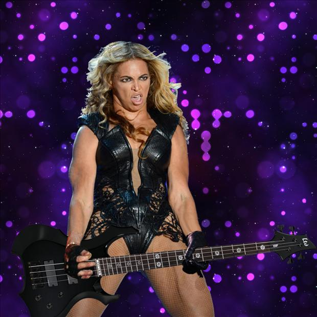 beyonce super bowl pictures meme, guitar playing