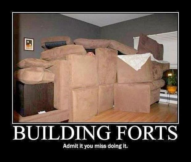 building a fort, funny pictures