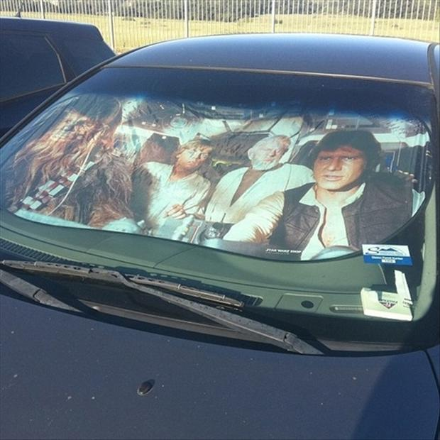 car sun screen, funny pictures