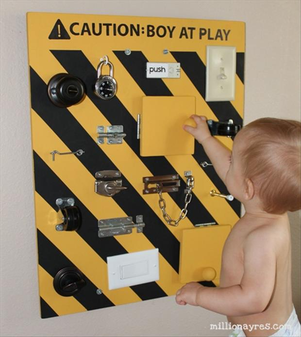 caution boys playing