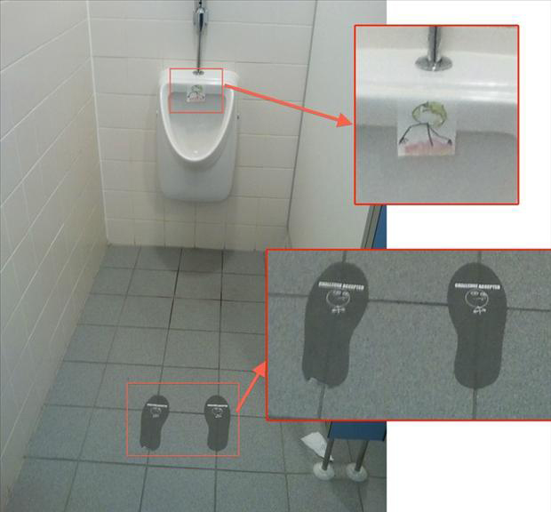 challenge accepted, peeing in a urinal